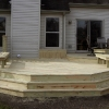 Custom deck with benches