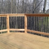 Outdoor deck addition