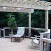 Deck with pergola builder
