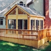 Custom deck with Sunroom
