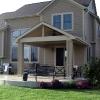 Backyard porch extension