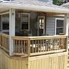 Raised open porch