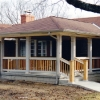 Open porch on new construction