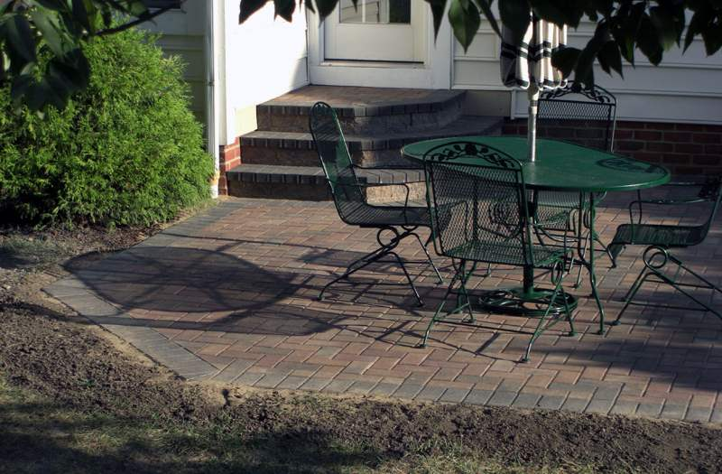Paver Patio With Steps Columbus Ohio