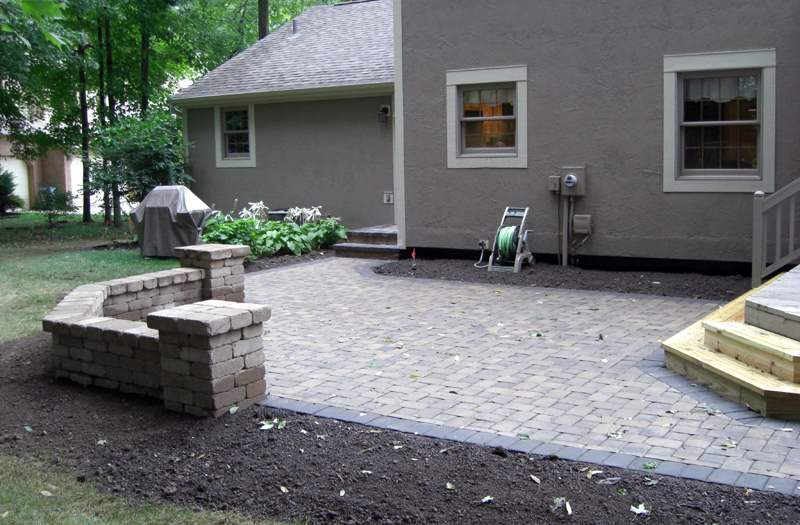 Backyard Paver Designs paver banding design ideas for pavers Paver Patio Off Deck