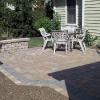 Paver Patios with Wall