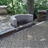 Patio Paver with Curved Wall