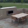 Paver Patio with Fireplace