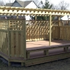 Custom Deck with Pergola for Hot Tub