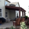 Pergola attached to home over patio